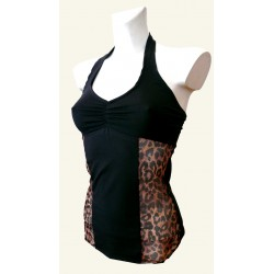 TOP REJILLA LEOPARDO