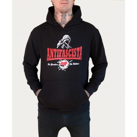SUDADERA ANTIFASCISTA. NO BORDERS