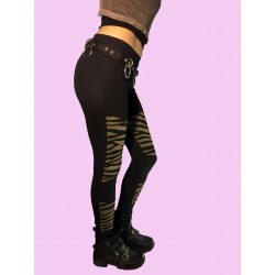 LEGGINS PARCHES ZEBRA KAKI