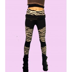 LEGGINS PARCHES ZEBRA CRUDO